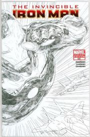 Invincible Iron Man #500 Joe Quesada Retailer Incentive Sketch Variant 1:150 Marvel comic book